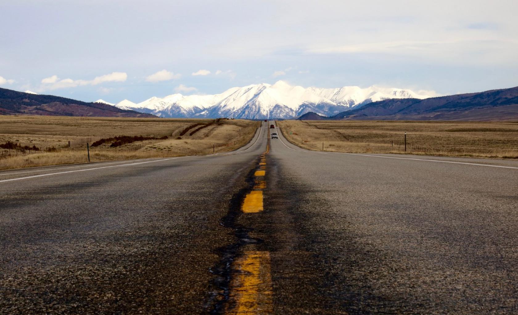 Colorado - Weg uitzicht