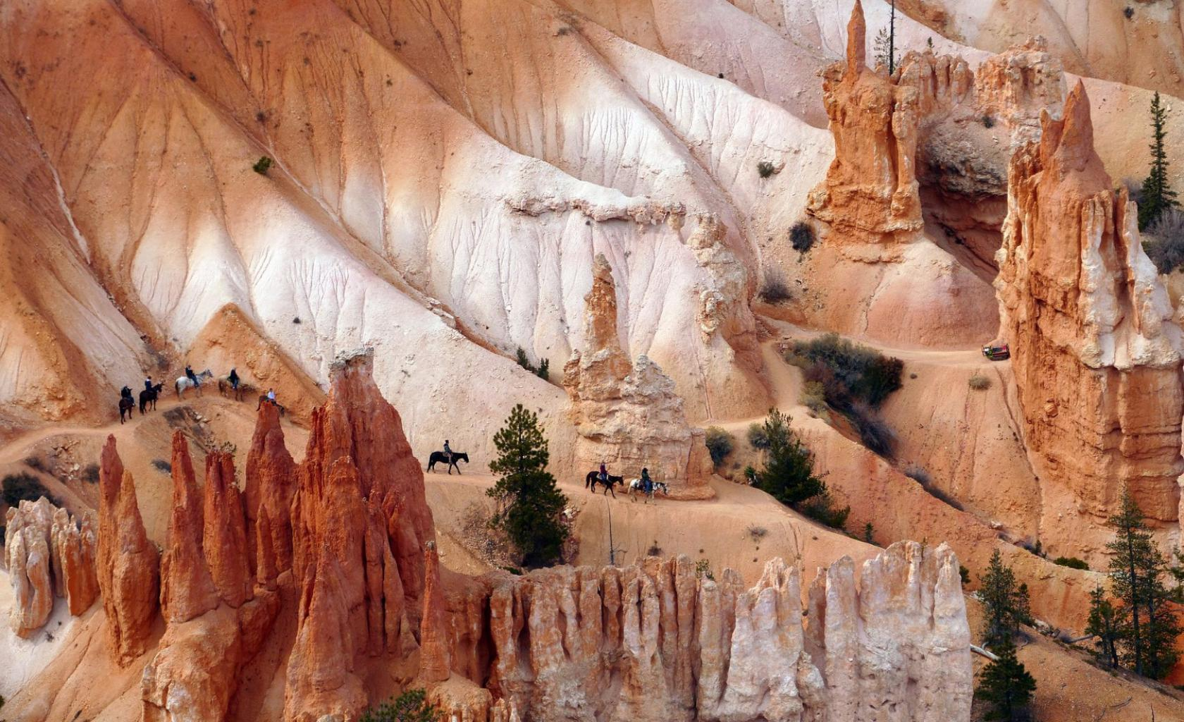 Utah - Paardrijden in Bryce NP